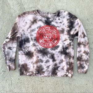 Vans Black & White Tie Dye Sweater RARE